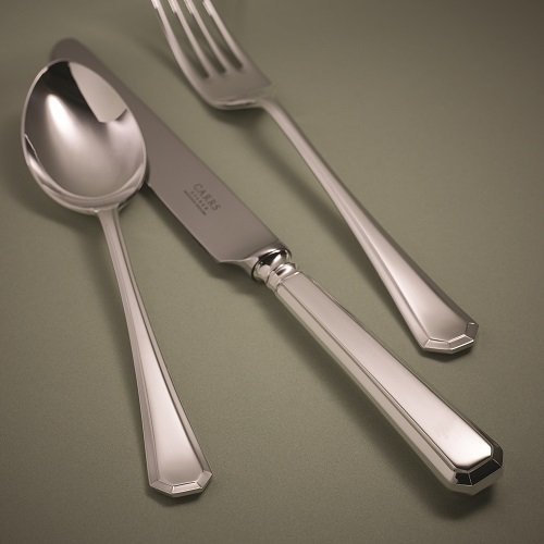 Grecian Cutlery Table knife table fork dessert spoon, Carrs of Sheffield