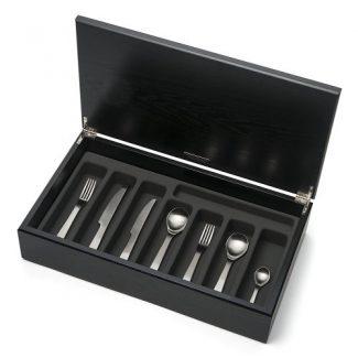 London stainless steel cutlery in Dark Oak Canteen, David Mellor