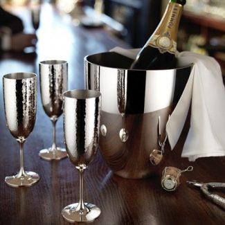 MARTELE Silver Champagne Flute, Robbe & Berking