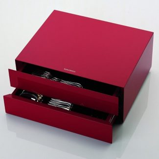 RED LACQUERED Cutlery Cabinet, Robbe & Berking