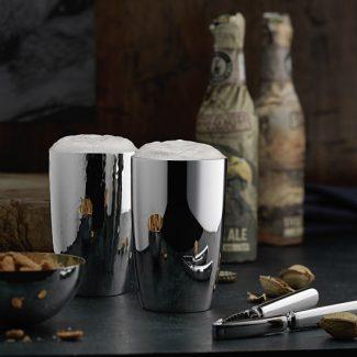 Dante Bar Kollektion Silver Beer Tumblers - Robbe & Berking
