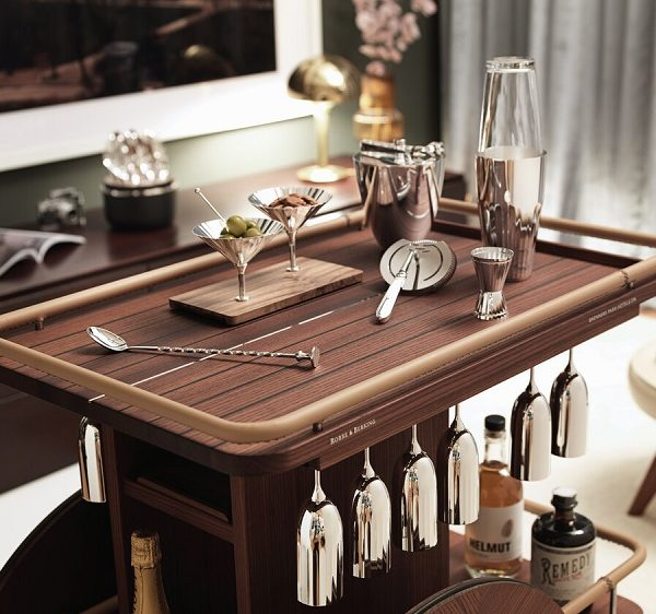 Belvedere Bar Trolley with Vessels